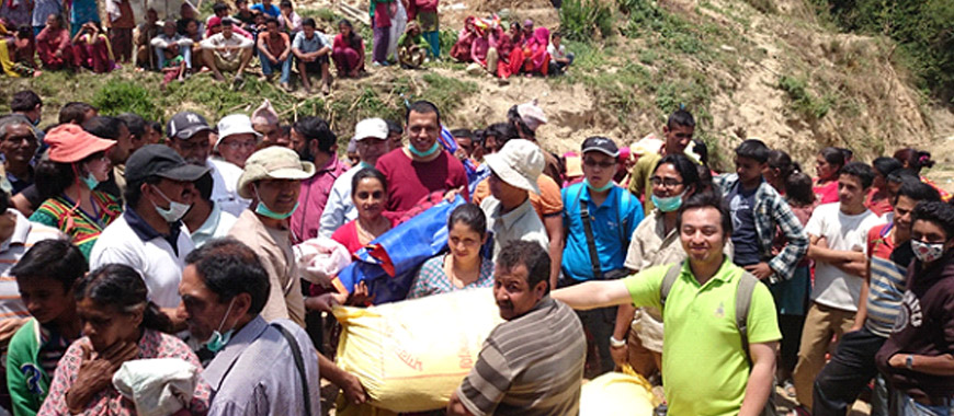 Distribution of Food items and shelters in Nuwakot and Sindhupalchowk