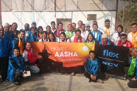 Project Asha -Community Hall Construction At Dhading With Flex Construction