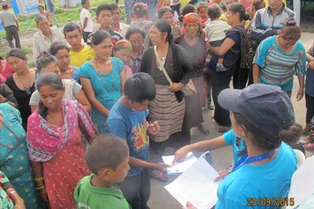 Distribution Of Temporary Shelter In Camps